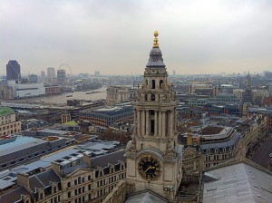 View from St Pauls London - London on a budget