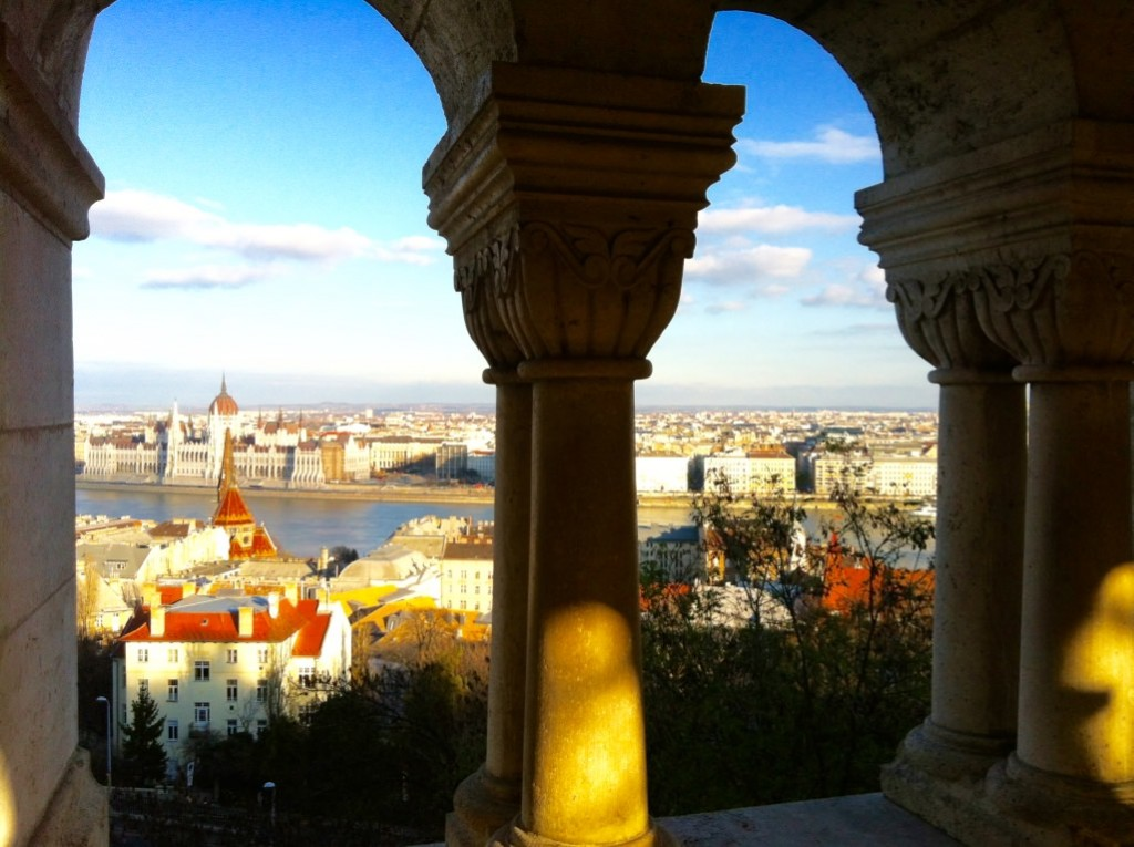 Views over Budapest from Fishermans Bastion