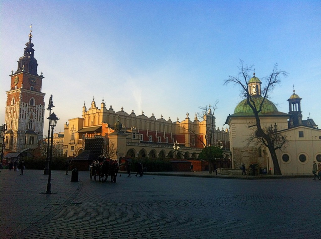 Krakow Old Town Square Christmas