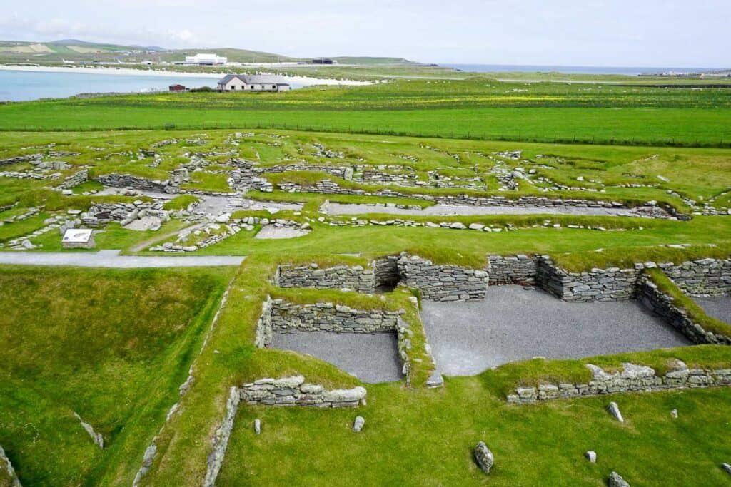 Jarlshof Historic Site Shetland Scotland