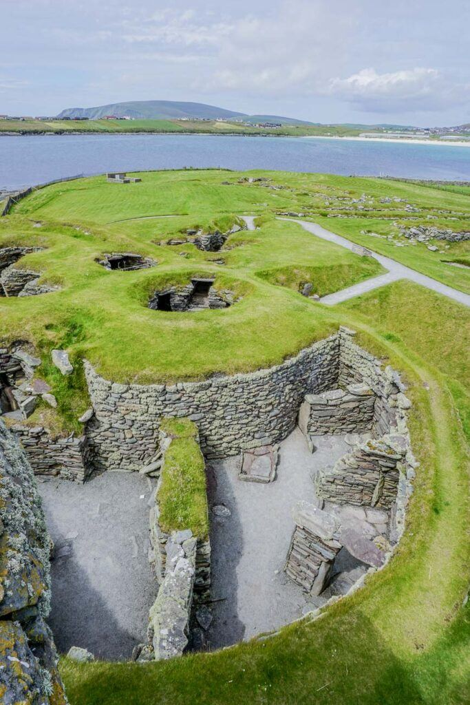 Pict Wheelhouses - Jarlshof Historic Site Shetland Scotland