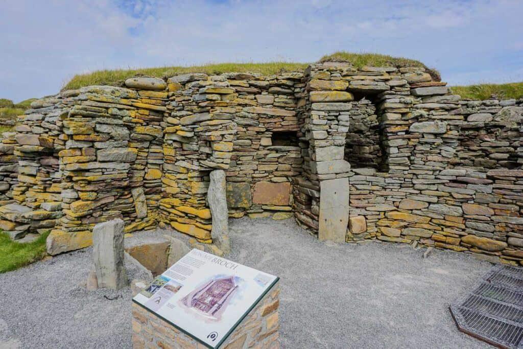 Jarlshof Historical Site Shetland Scotland