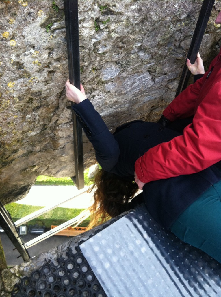 kissing the blarney stone blarney castle cork ireland