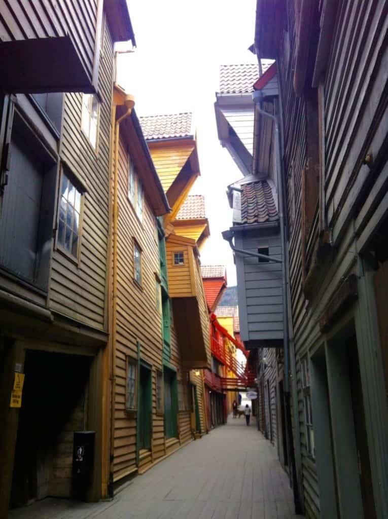 Bryggen UNESCO Bergen Norway in March