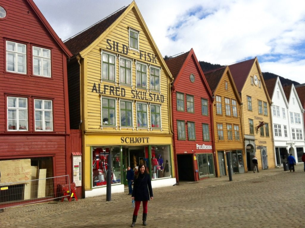 Bryggen UNESCO Norway at Easter in March