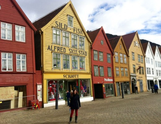 Bryggen Norway Europe in Winter