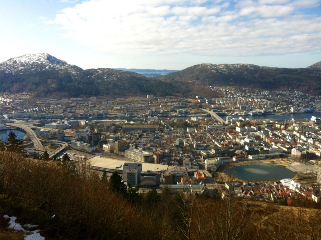 Mount Floyen Funicular Bergen Norway