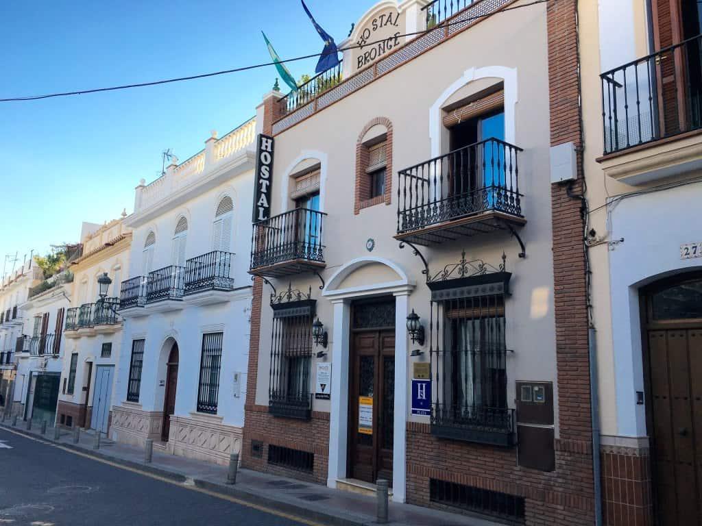 Hostel outside in Nerja Spain