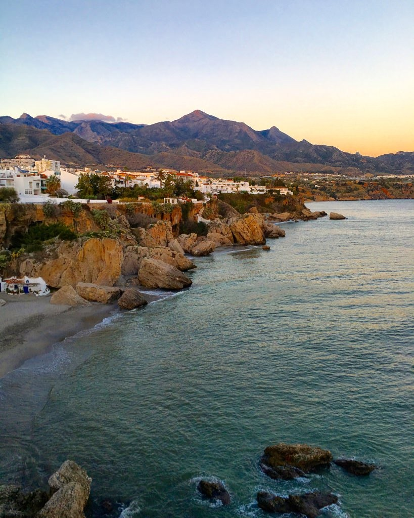 One Day in Nerja Spain Malaga Sunset