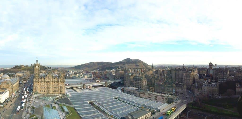 Scotts Monument panorama Edinburgh Scotland