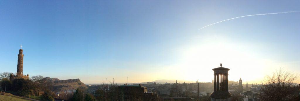 Sunset at Calton Hill Edinburgh Scotland