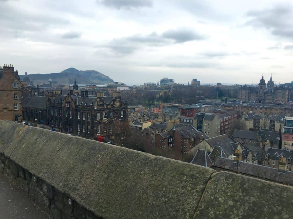 View from Castle Arthurs Seat Edinburgh Scotland