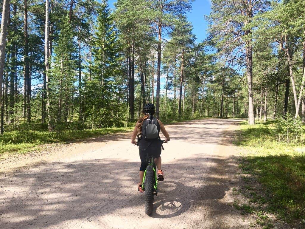 Fatbiking Lulea Swedish lapland