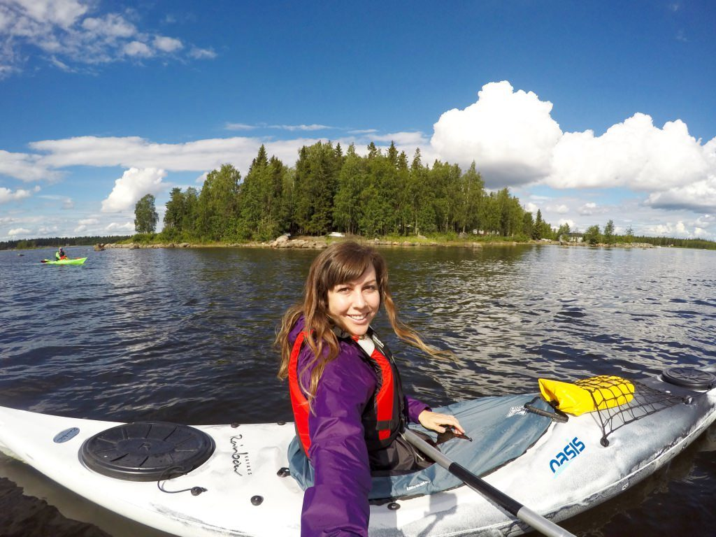 Kayaking lulea archipelago