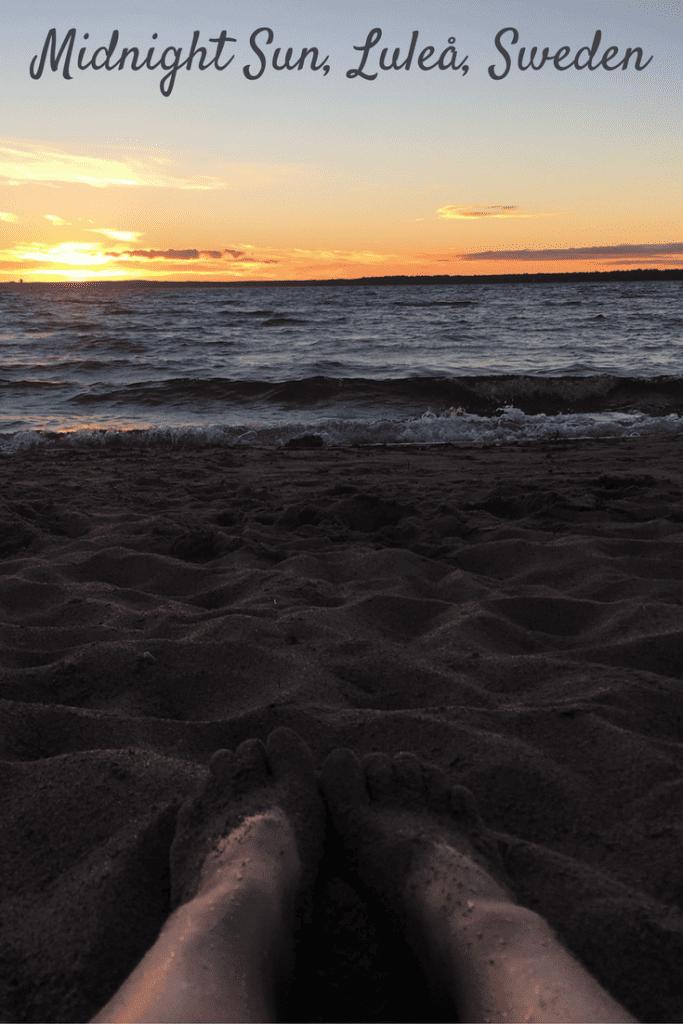 Midnight Sun Lulea Sweden in Summer