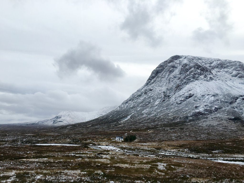 Glen Coe in Winter Scotland Road Trip
