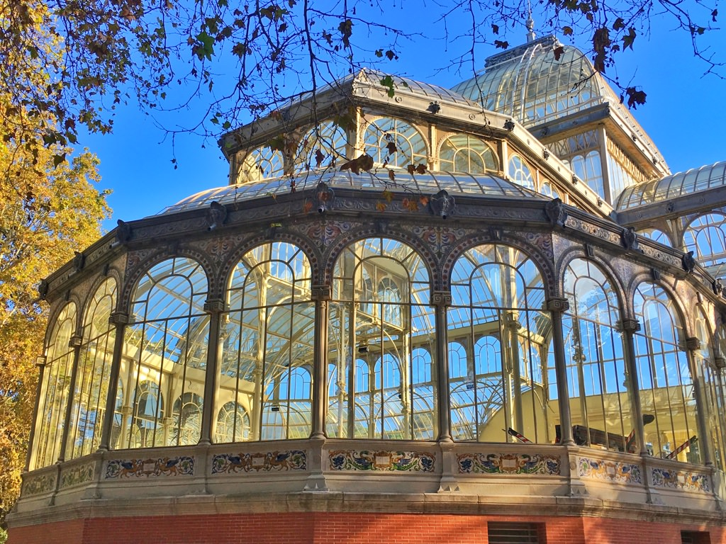 Glasshouse in Madrid - Spain in winter