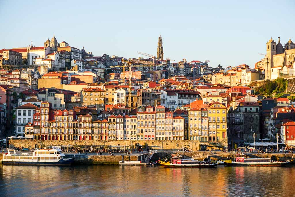 Porto at sunset across the river