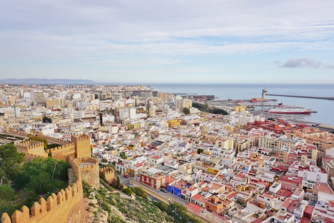 View over Almeria Spain from Alcazaba