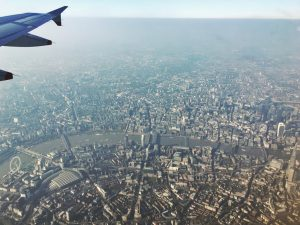 View of the Thames London from a plane - London in Four Days