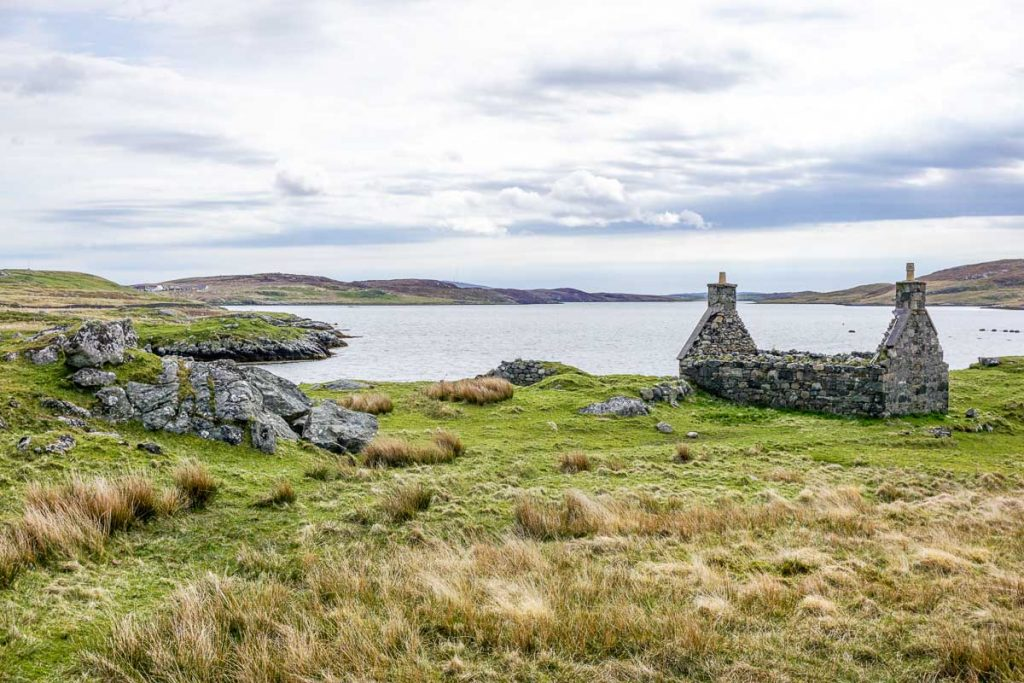 Tracing Scottish Ancestry - House ruins on the Isle of Lewis