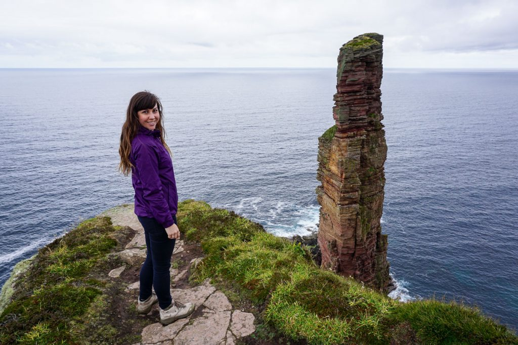 Old Man of Hoy Walk, Visiting Hoy, Orkney Islands, Scotland
