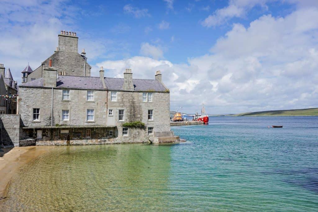 Lerwick Houses in Shetland Scotland