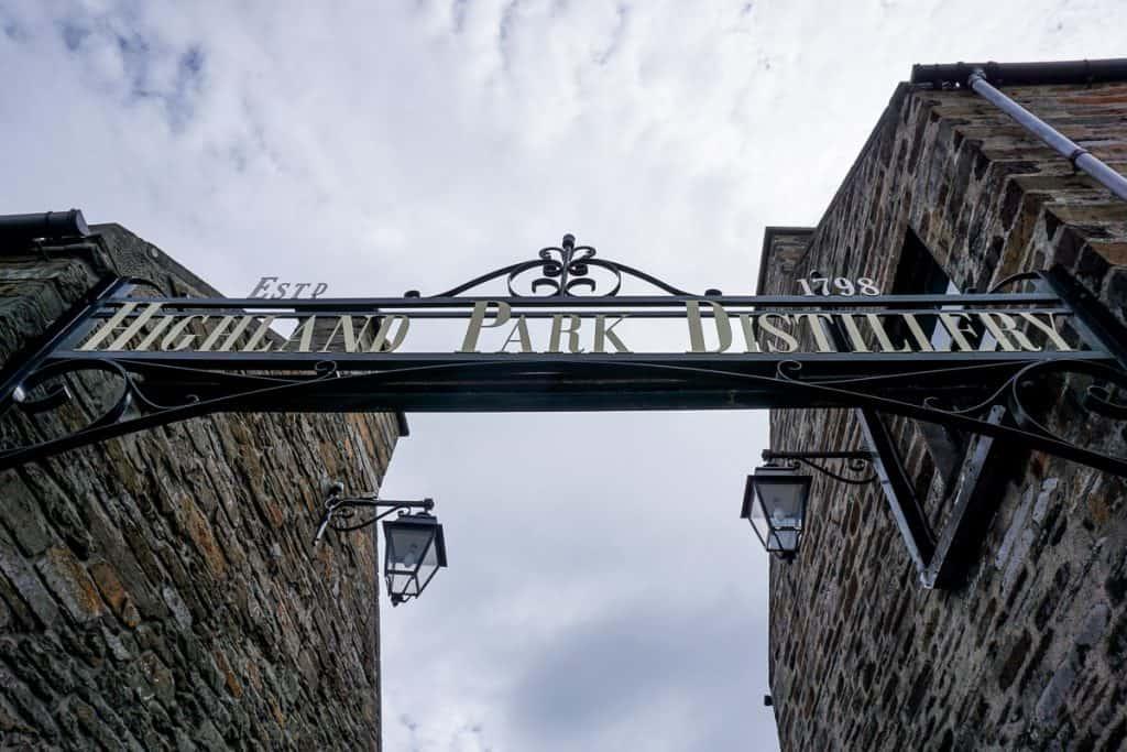 Distillery in Orkney Islands