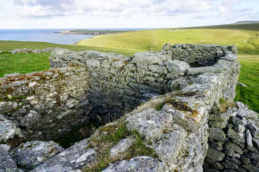 House ruins in Skaw Unst Shetland