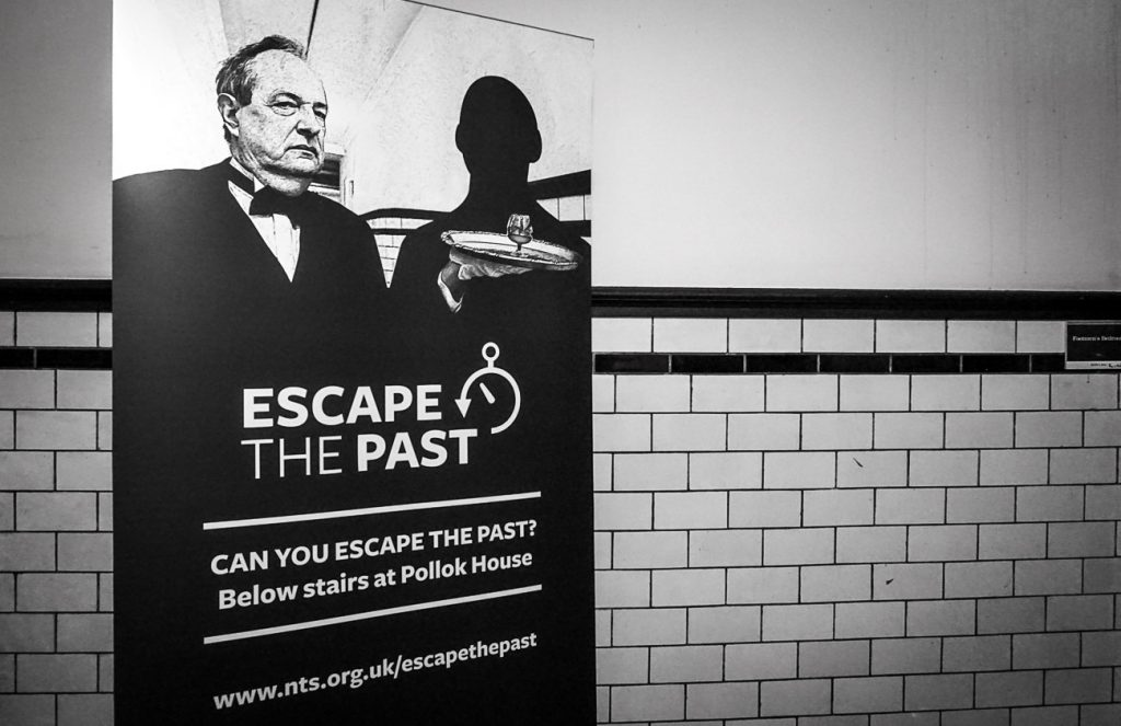 Escape the Past escape room, Pollok House, Glasgow