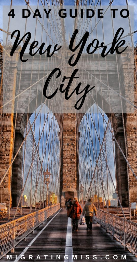 NYC Guide: A First-Timers Four Day Itinerary For New York City + Maps