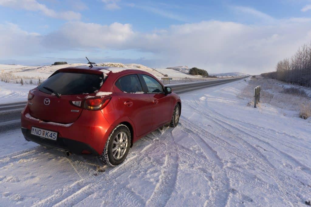 Driving in Iceland in November