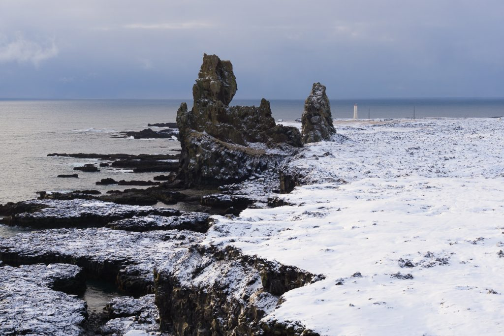 Iceland in winter Snaefellness Peninsula