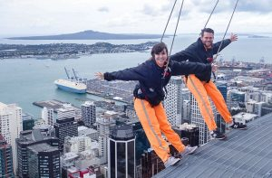 Sky Tower Skywalk Auckland City New Zealand