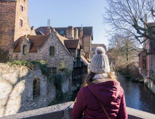 Canals in Bruges, Belgium