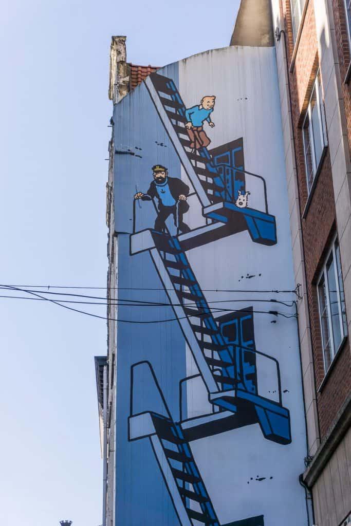 Tintin in Brussels, Belgium