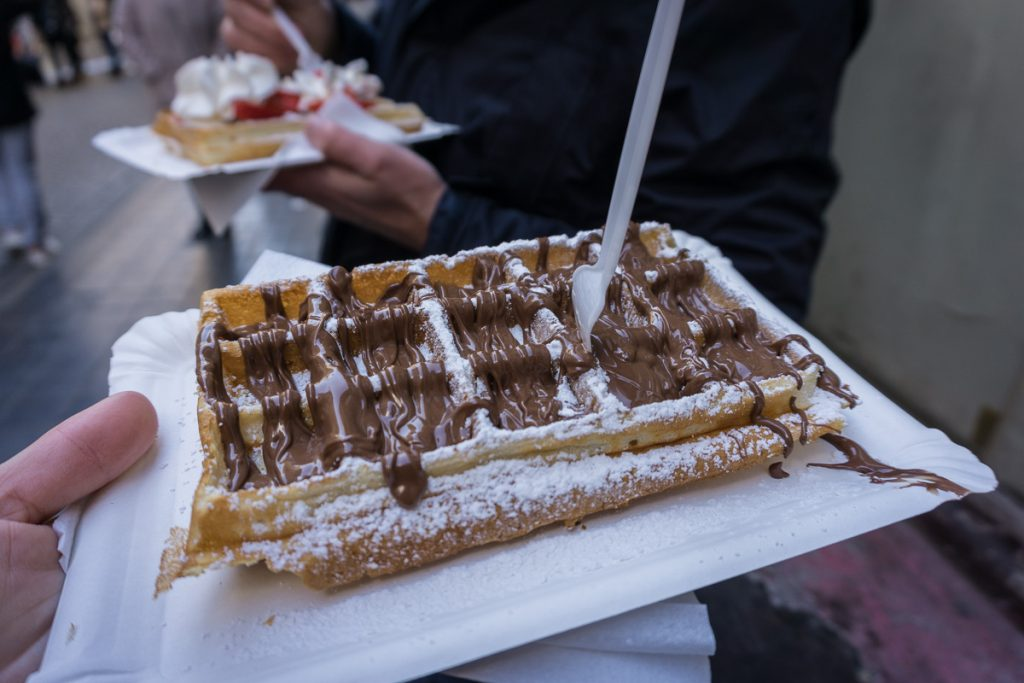 Brussels in winter - Waffles