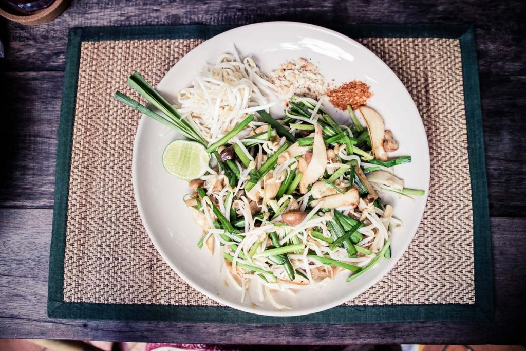 Vegan pad thai in Chiang Mai