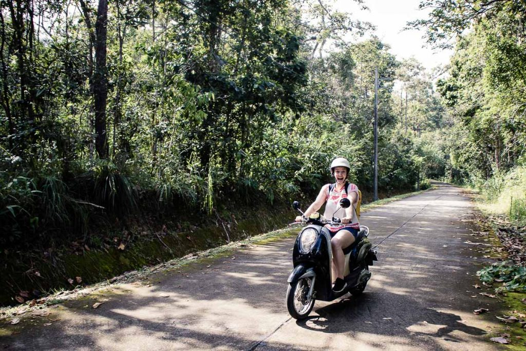 Day 2 - Driving a scooter to Mon Tha Than waterfall by Chiang Mai