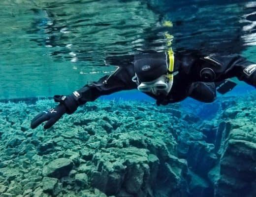 Snorkeling in Iceland - Silfra Snorkeling in Winter