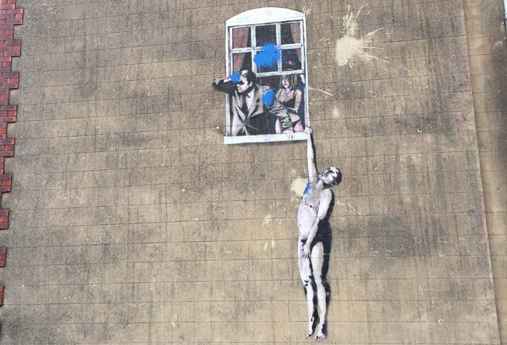 Banksy in Bristol, England