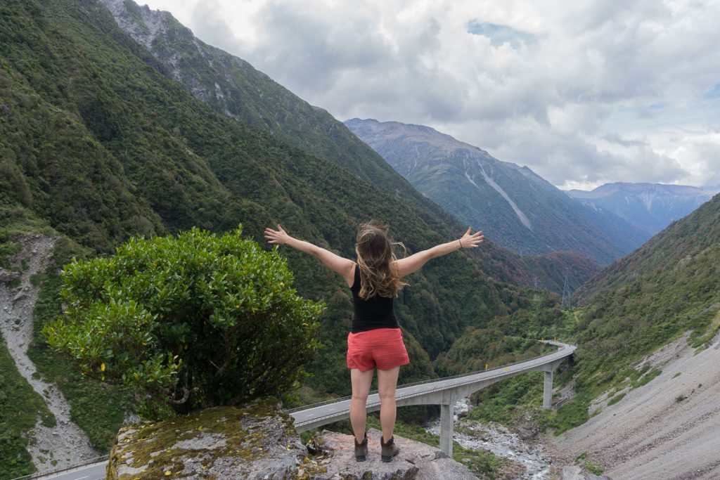 Planning a New Zealand Trip - Arthur's Pass Mountains and Road View