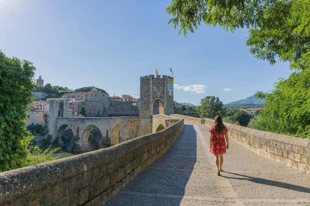 Bridge to Besalu: Visit the medieval town of Besalu, Girona