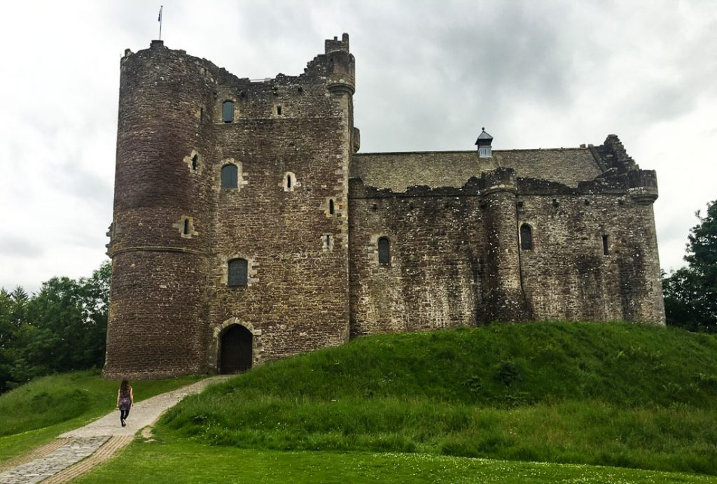 Doune Castle: Edinburgh to Glencoe by car