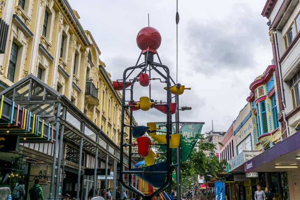 Bucket Fountain Cuba Street Wellington
