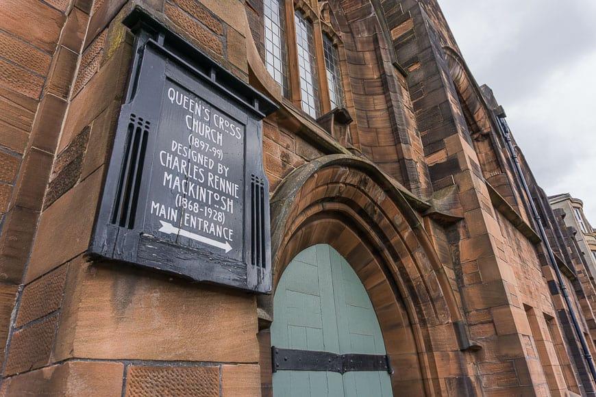 Mackintosh Queens Cross Church Glasgow