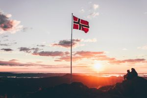 Norwegian flag - Visiting Norway in March