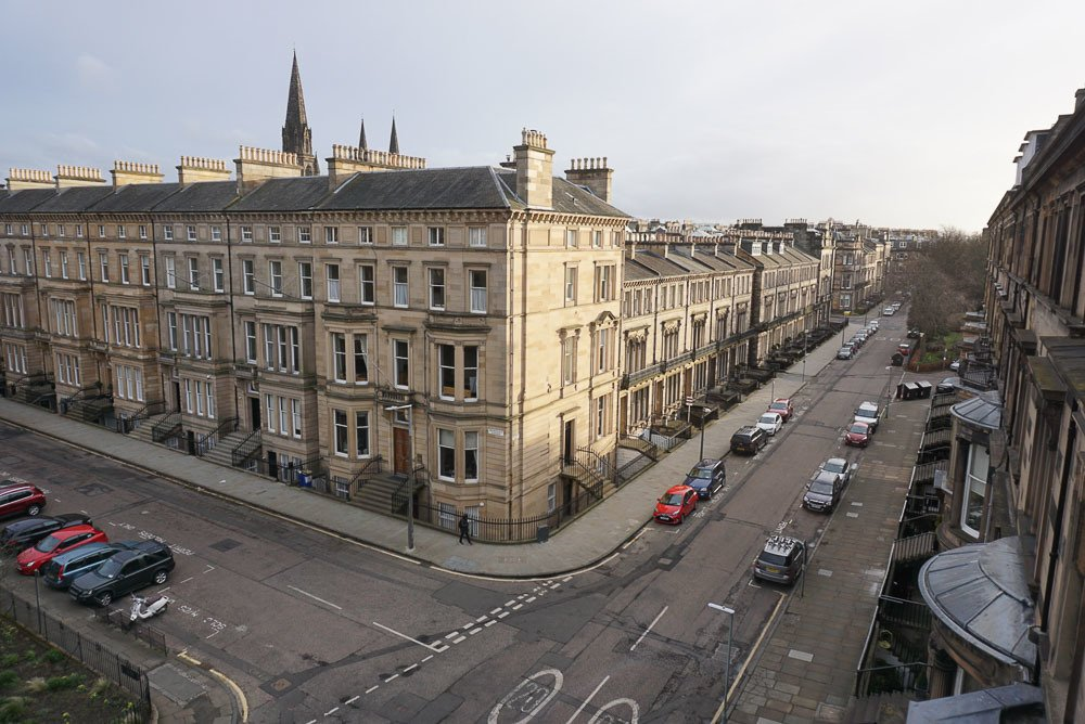 The West End streets Edinburgh