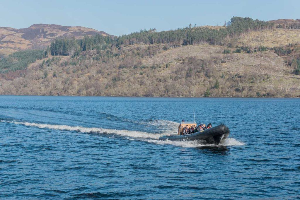 Boat on Loch Ness, Scotland