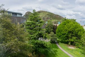 Salisbury Green Hotel & View - View of Arthur's Seat from the Window